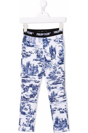 Philipp Plein Junior En PLEIN air-print stretch-cotton leggings