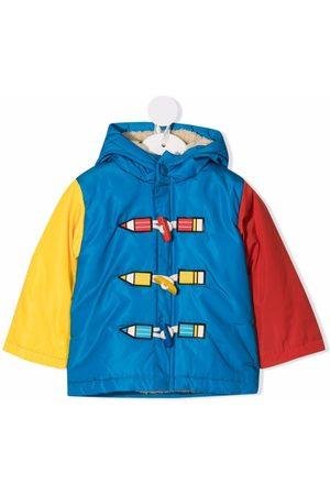Stella McCartney Kids Colour-block hooded coat