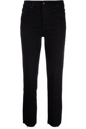 7 For All Mankind Raw-hem cropped jeans