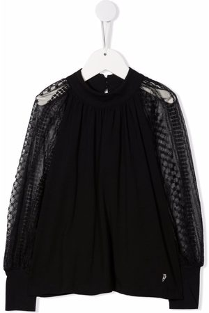 Dondup Kids Meisjes Blouses - Round neck long-sleeved blouse
