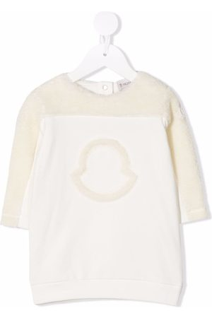 Moncler Meisjes Casual jurken - Logo-detail long-sleeved jumper dress