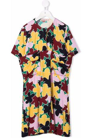 Marni Floral-print draped dress