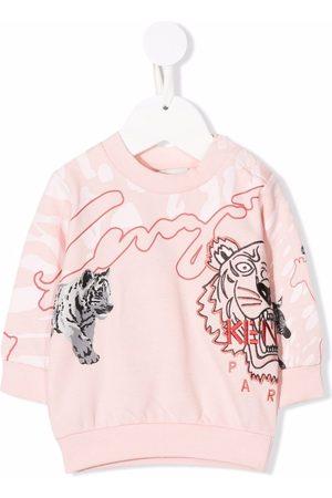 Kenzo Kids Sweaters - Embroidered-logo sweatshirt