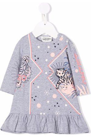 Kenzo Meisjes Casual jurken - Logo-print long-sleeved dress