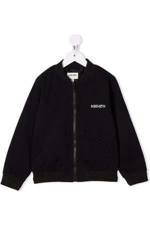 Kenzo Kids Logo-print bomber jacket