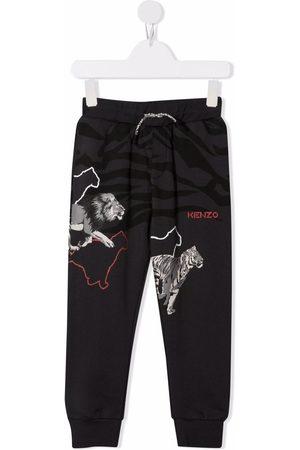 Kenzo Kids Animal-print track pants