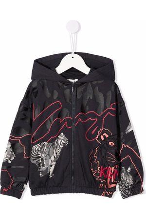 Kenzo Kids Meisjes Donsjassen - Animal-print hooded jacket