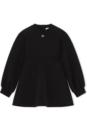 Dolce & Gabbana Kids Logo-plaque sweater dress