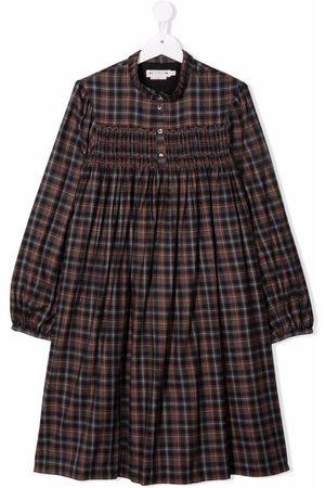 BONPOINT Check long-sleeve shirt dress