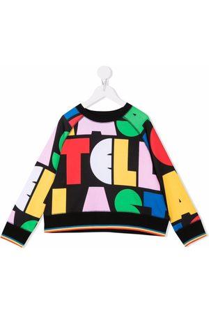 Stella McCartney Kids Jongens Sweaters - Multicolour logo-print sweatshirt