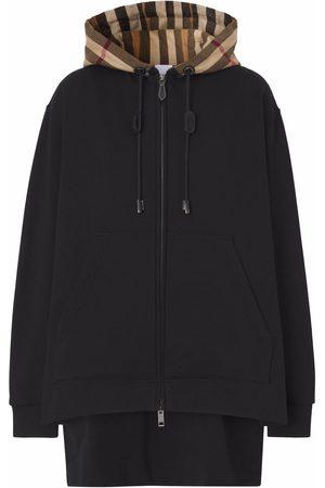 Burberry Dames Hoodies - Check-hood hoodie