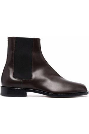 Maison Margiela Heren Enkellaarzen - Tabi leather Chelsea boots