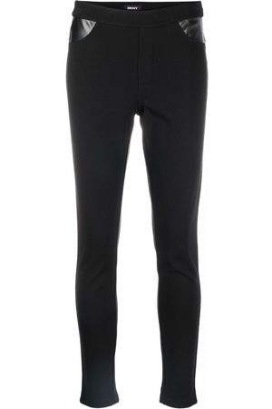 DKNY Contrast-panel skinny trousers