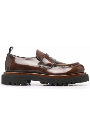 Officine Creative Polished calf leather loafers