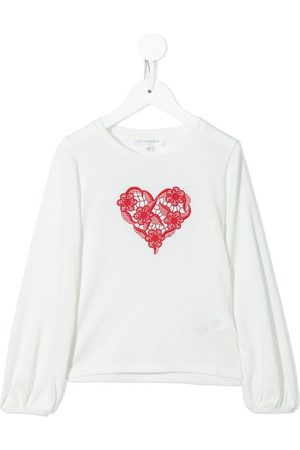 Charabia Meisjes T-shirts - Embroidered long-sleeved T-shirt