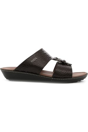 Tod's Snakeskin-effect leather sandals