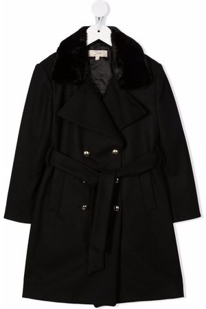 Elie saab Double-breasted belted coat