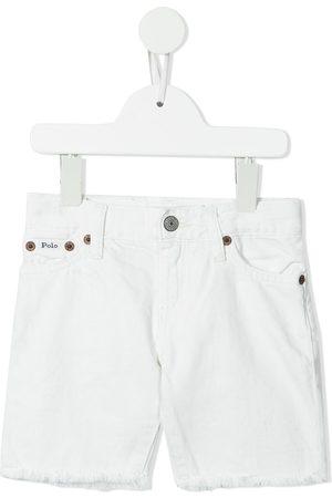 Ralph Lauren Kids Raw-cut hem denim shorts