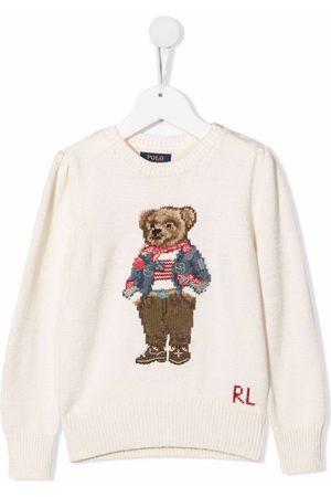 Ralph Lauren Kids Polo Bear intarsia jumper