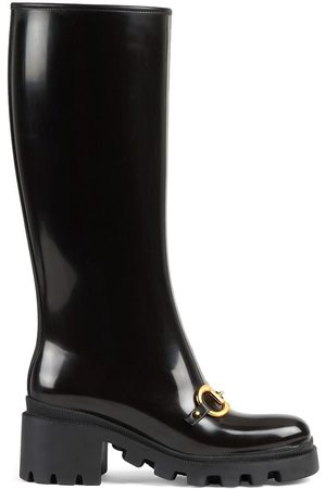Gucci Dames Hoge laarzen - Horsebit-detail knee-high boots