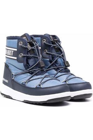 Moon Boot Kids Jongens Snowboots - Logo-print snow boots