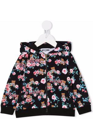 Moschino Kids Toy-bear pattern hood