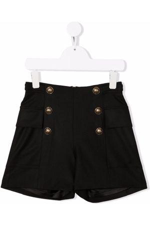 Balmain Kids Meisjes Shorts - Embossed-button shorts