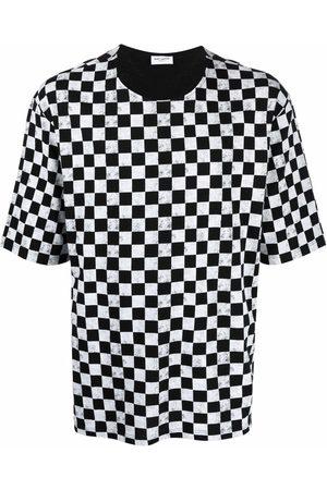 Saint Laurent Check-print T-shirt
