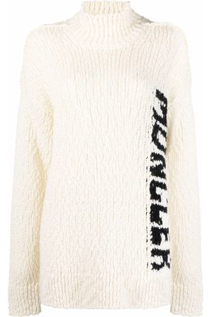 Moncler Dames Gebreide truien - Logo-intarsia knitted jumper