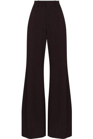 Chloé Grain de poudre flared trousers