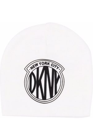 Dkny Kids Logo-patch knitted hat