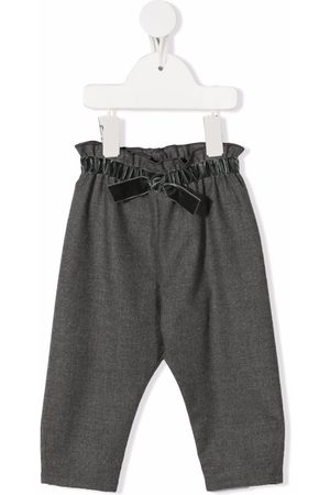 Il Gufo Bow-detail elasticated trousers