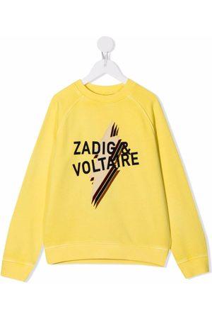 Zadig & Voltaire Kids Jongens Sweaters - Logo-print crewneck sweatshirt