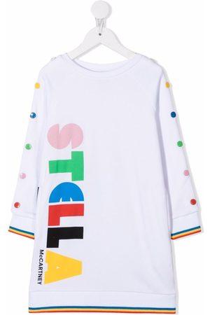 Stella McCartney Meisjes Sweaters - Logo-print longline sweatshirt