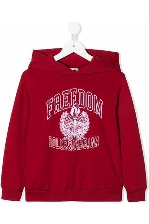 Dolce & Gabbana Kids Jongens Hoodies - Fleece logo-stamp hoodie