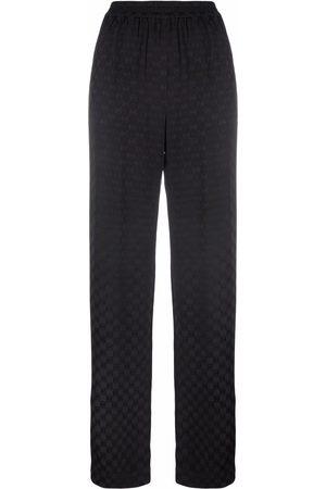 Michael Michael Kors Logo-print wide-leg trousers