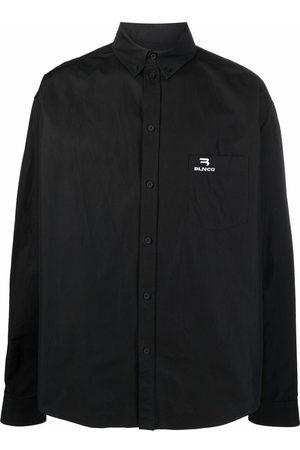 Balenciaga Large Fit logo-embroidered shirt
