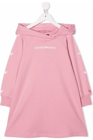 Emporio Armani Kids Logo print hooded dress