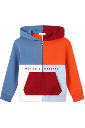 Dolce & Gabbana Kids Colour-block zip-front hoodie