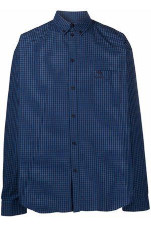 Balenciaga Large Fit long-sleeve checked shirt