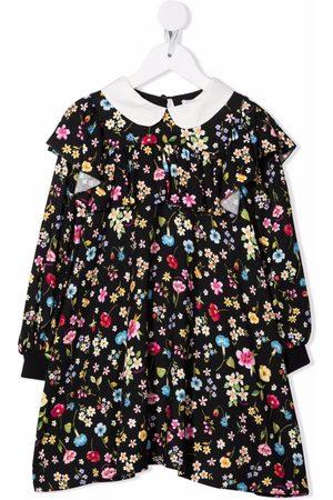 Monnalisa Meisjes Casual jurken - All-over floral print dress