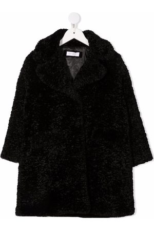 Monnalisa Faux-fur single-breasted coat