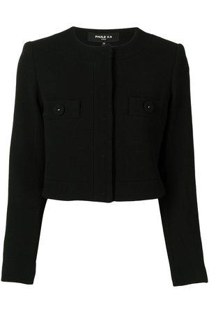 Paule Ka Dames Donsjassen - Collarless cropped jacket