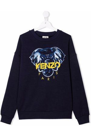 Kenzo Sweaters - TEEN embroidered logo sweatshirt