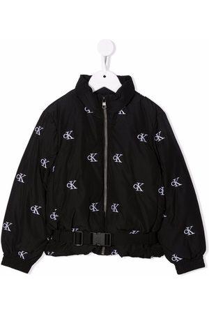 Calvin Klein Kids Meisjes Bomberjacks - Logo print bomber jacket