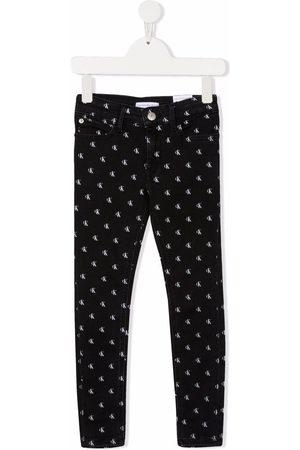 Calvin Klein Logo-print slim-fit jeans