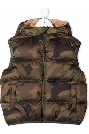 Il Gufo Camouflage down-padded gilet