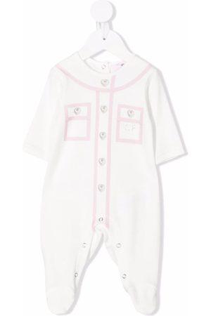 Chiara Ferragni Two-tone rhinestone-embellished pajamas