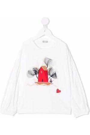 Il gufo T-shirts - Graphic-print longsleeved T-shirt