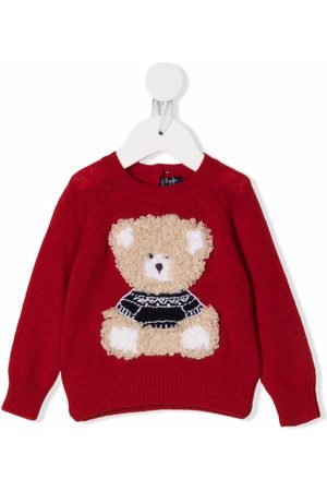 Il Gufo Sweaters - Bear-embroidered sweater